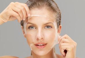 Снятие желатиновой маски с лица