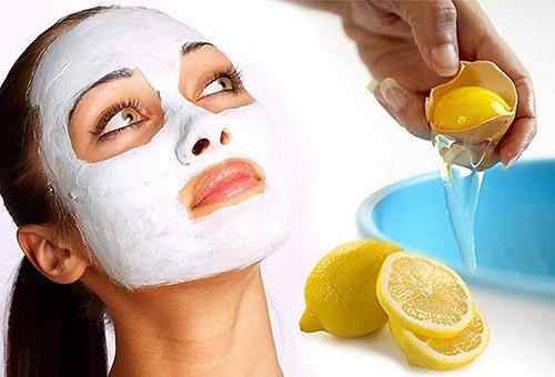 Маска из лимона и белка для лица