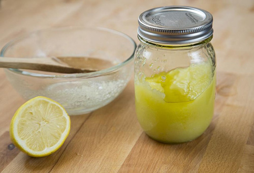 Ингредиенты скраба для лица - лимон и кокосовое масло