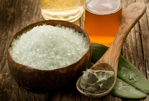 Ингредиенты для солевого скраба