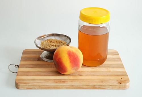 Ингредиенты персикового скраба