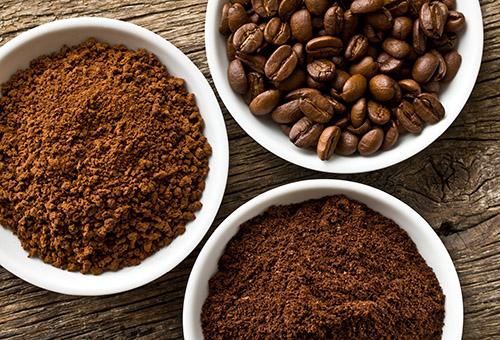 Кофе разного помола для домашнего скраба