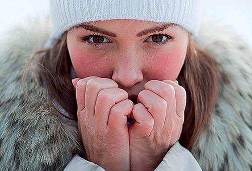 Покраснение лица на холоде