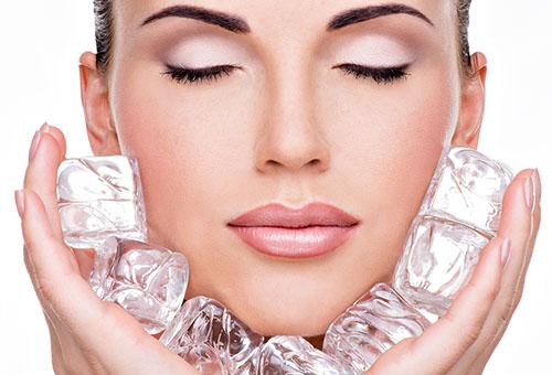 Польза холода для кожи лица