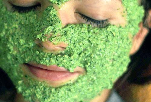 Маска для лица из зелени петрушки