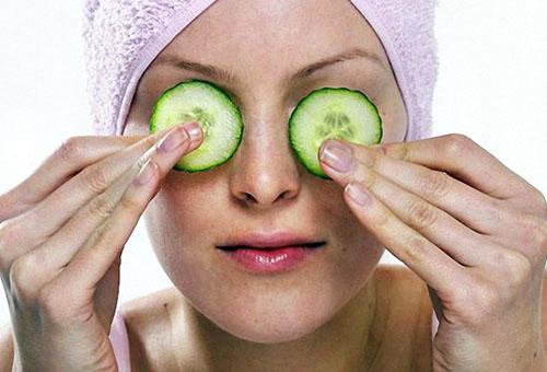 Огуречные компрессы на глаза