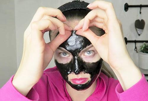 Снятие черной желатиновой маски с лица