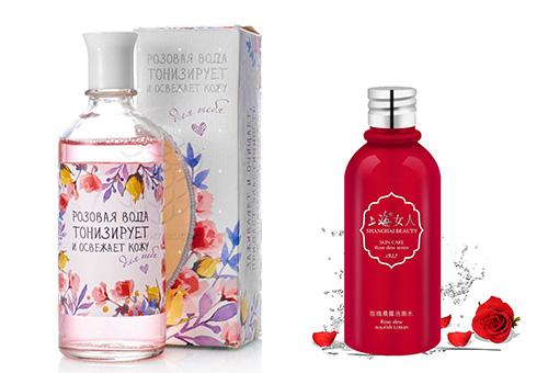 Розовая вода от разных производителей